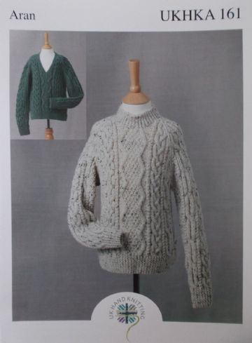 Country  Sweater ,Aran Knitting Pattern, UKHKA 161